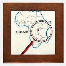 Burundi Under A Magnifying Glass Framed Tile