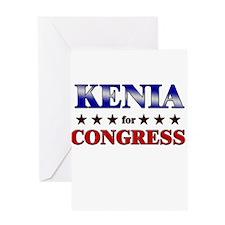KENIA for congress Greeting Card