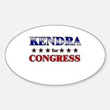 KENDRA for congress Oval Decal