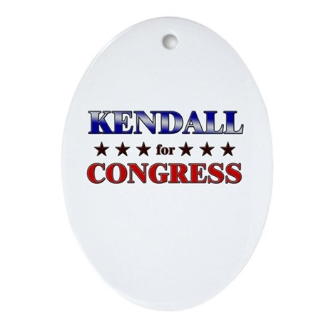 KENDALL for congress Oval Ornament