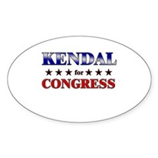 KENDAL for congress Oval Decal