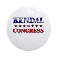 KENDAL for congress Ornament (Round)