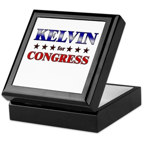 KELVIN for congress Keepsake Box
