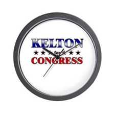 KELTON for congress Wall Clock