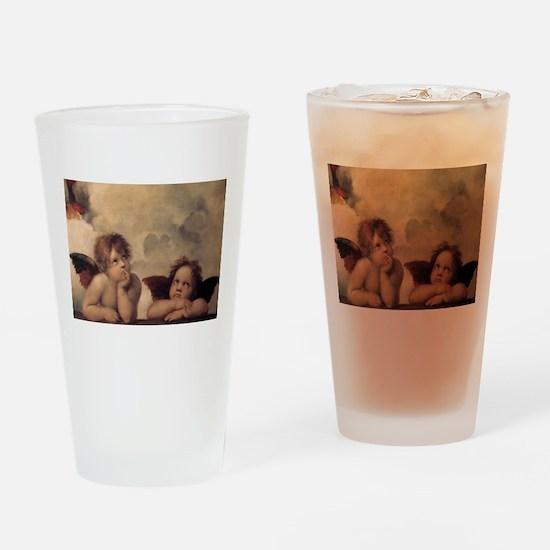 Raphael angels Drinking Glass