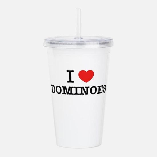 I Love DOMINOES Acrylic Double-wall Tumbler