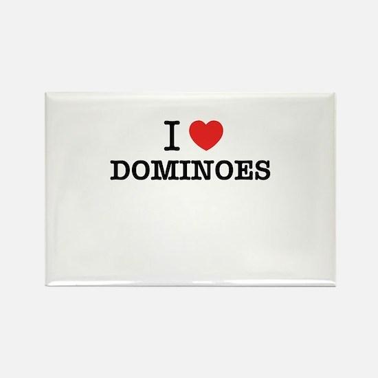 I Love DOMINOES Magnets