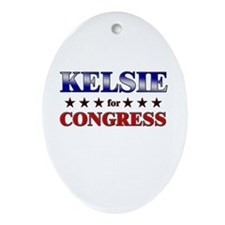 KELSIE for congress Oval Ornament