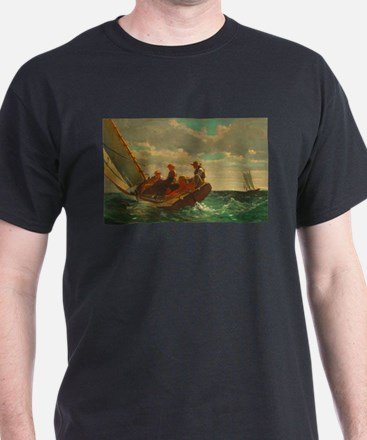 Breezing Up by Winslow Homer T-Shirt