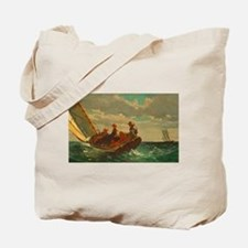 Breezing Up by Winslow Homer Tote Bag