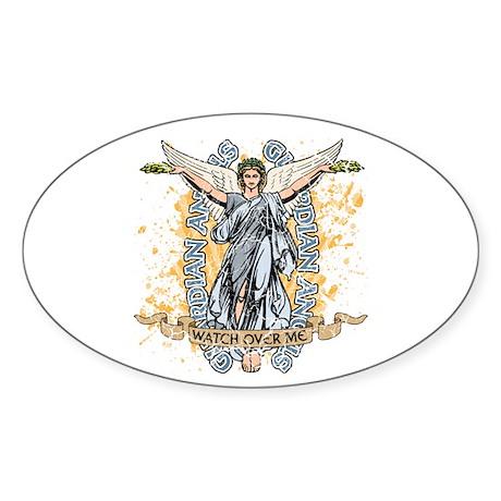 Guardian Angels Oval Sticker