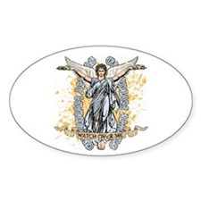 Guardian Angels Oval Stickers