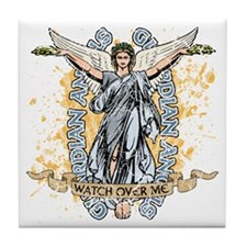 Guardian Angels Tile Coaster