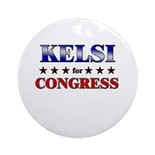 KELSI for congress Ornament (Round)