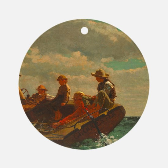Breezing Up by Winslow Homer Round Ornament