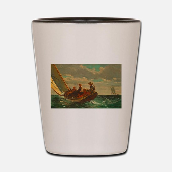 Breezing Up by Winslow Homer Shot Glass