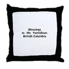 Blessings  to  the  Tsimshian Throw Pillow