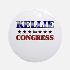 KELLIE for congress Ornament (Round)