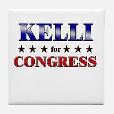KELLI for congress Tile Coaster