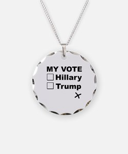 My Vote Necklace Circle Charm