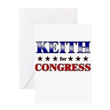 KEITH for congress Greeting Card