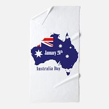 Happy Australia Day Beach Towel