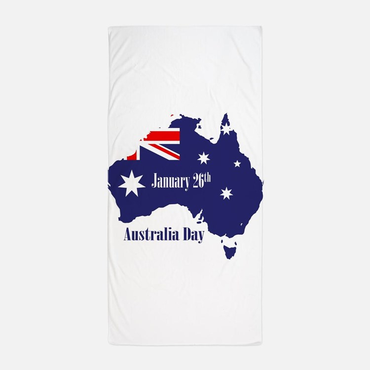 Australia Day Beach Towels