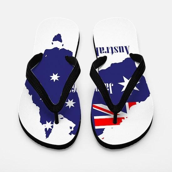 Happy Australia Day Flip Flops