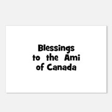 Blessings  to  the  Ami of Ca Postcards (Package o