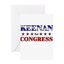 KEENAN for congress Greeting Card