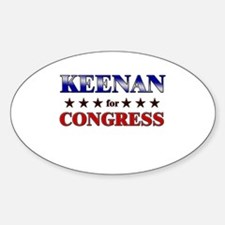 KEENAN for congress Oval Decal