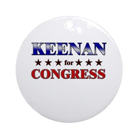 KEENAN for congress Ornament (Round)