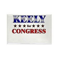 KEELY for congress Rectangle Magnet