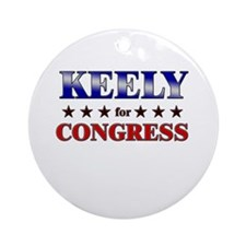 KEELY for congress Ornament (Round)