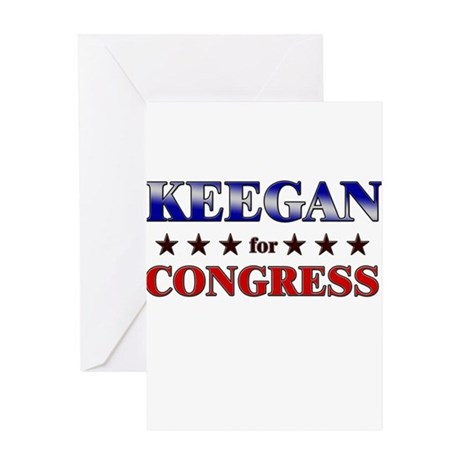 KEEGAN for congress Greeting Card