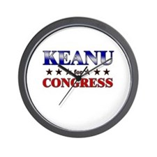 KEANU for congress Wall Clock