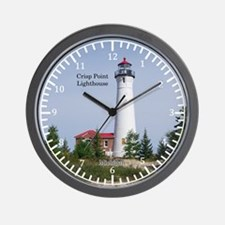 Crisp Point Lighthouse Wall Clock