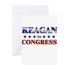 KEAGAN for congress Greeting Card