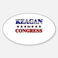 KEAGAN for congress Oval Decal