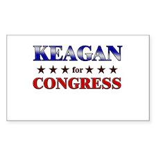 KEAGAN for congress Rectangle Decal