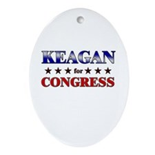 KEAGAN for congress Oval Ornament