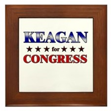 KEAGAN for congress Framed Tile