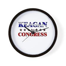KEAGAN for congress Wall Clock