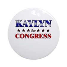 KAYLYN for congress Ornament (Round)