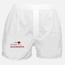 My heart belongs to a Blacksmith Boxer Shorts