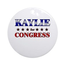 KAYLIE for congress Ornament (Round)