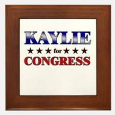 KAYLIE for congress Framed Tile