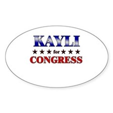 KAYLI for congress Oval Decal