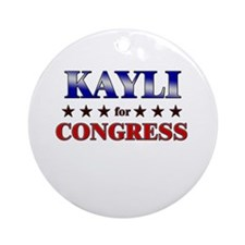 KAYLI for congress Ornament (Round)