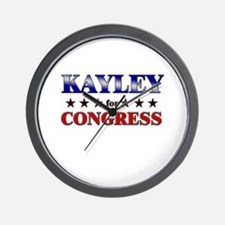 KAYLEY for congress Wall Clock